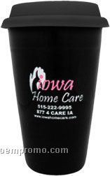 10oz Double Wall Ceramic Tumbler With Lid Options