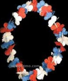 "38"" Patriotic Flower Leis"