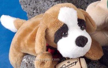 """8"""" Laying Bean Bag Saint Bernard Dog"""