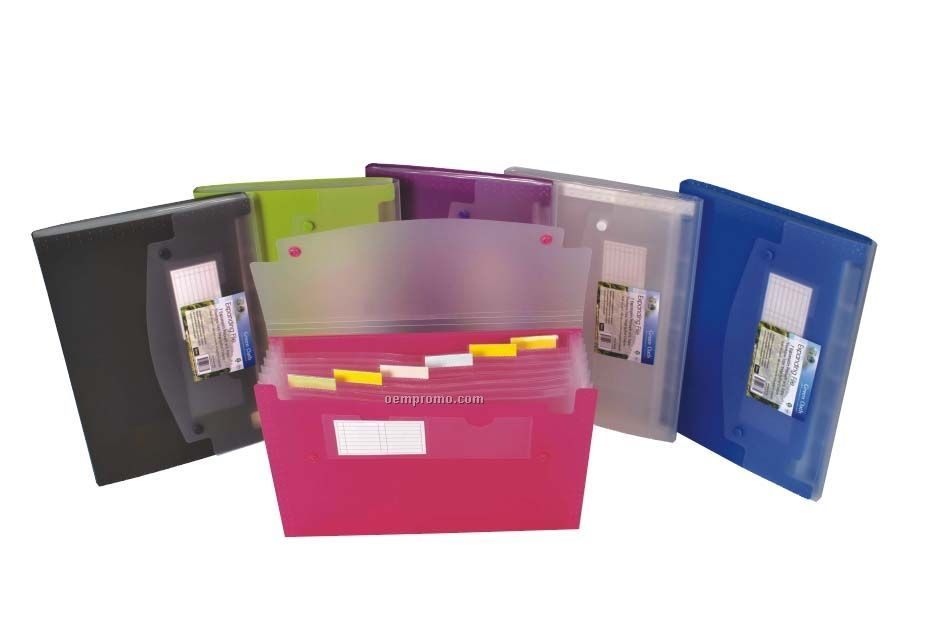 Assorted Pack Expanding File With 7 Pockets