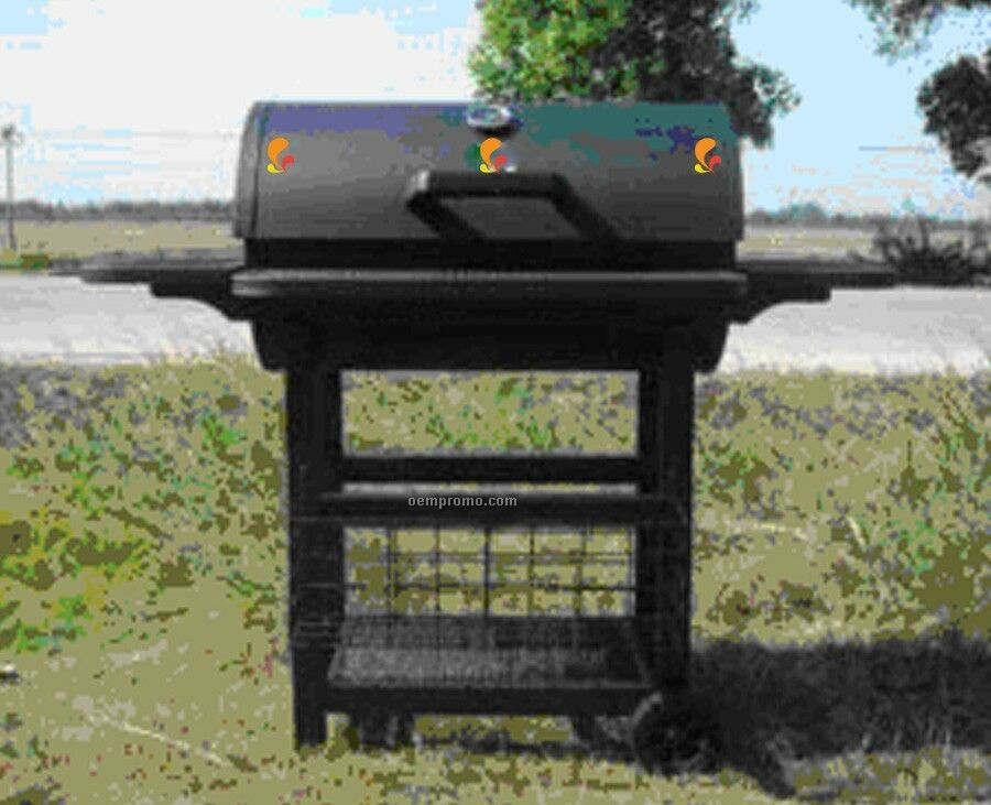 Barbecue Grill - Rounded Top W/Front & Side Racks & Bottom Storage