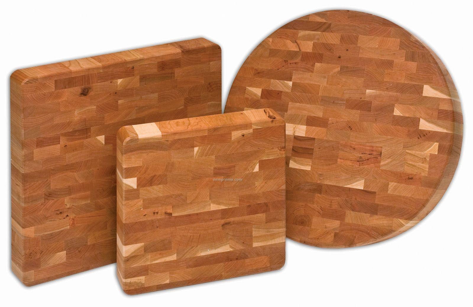 "Cherry End-grain Chunk Boards (16""X16""X2 1/2"")"