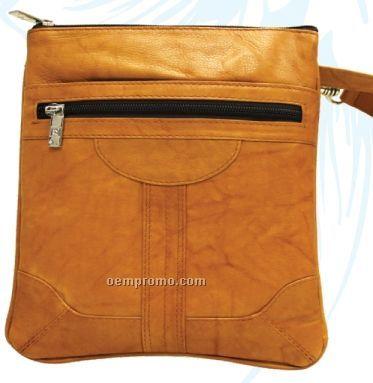 Dark Brown Mini Slim Dorothy Pouch W/ Back Zipper