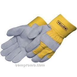 Gray Select Split Cowhide Work Gloves (S-xl)