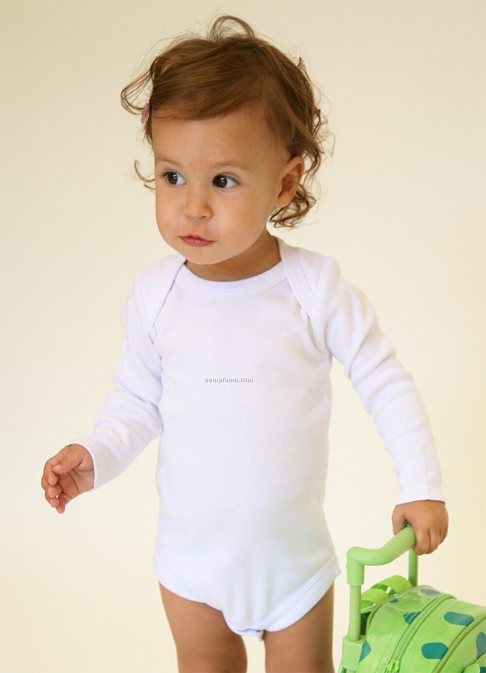 Infants Long Sleeve Lap Shoulder Onesie (6m-24m)
