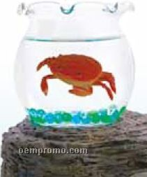 Magic Crab Bowl With Imitation Swimming Red Crab