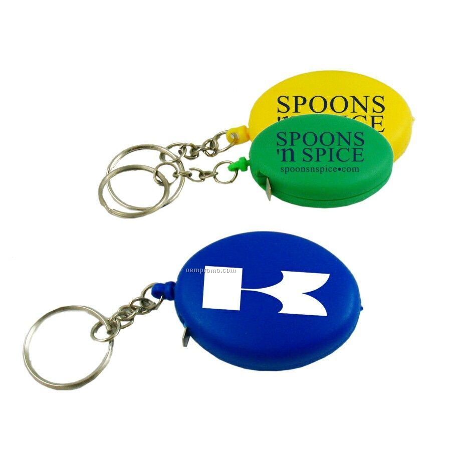 Oval Tape Measure W/ Key Chain