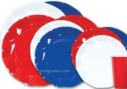 Plate Red/White/Blue