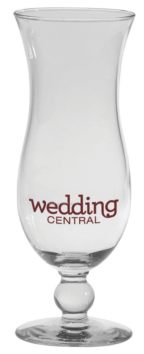 15 Oz. Footed Hurricane Vase Glass