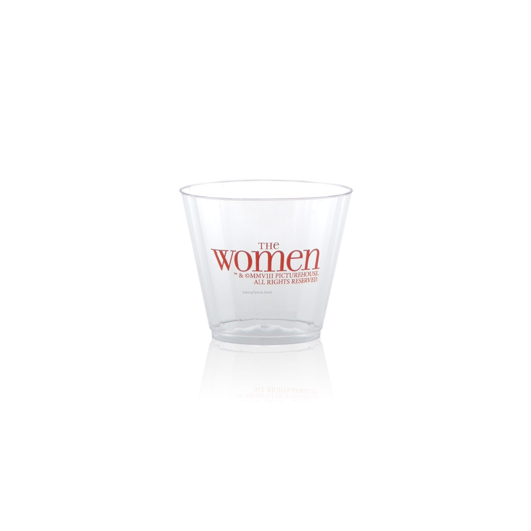 9 Oz. Clear Fluted Rocks Cup