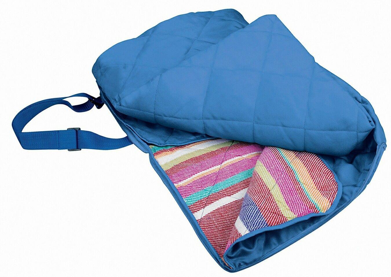 Air-tex Stadium Seat Picnic Blanket W/ Front Slash Pocket