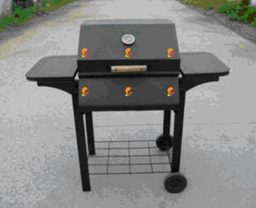 Barbecue Grill - Rectangular W/Side Racks & Wire Mesh Bottom