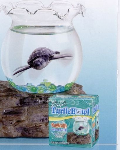 Magic Turtle Bowl With Imitation Swimming Sea Turtle
