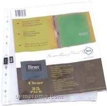 25 Pack 3.6 Mil Clear Sheet Protectors