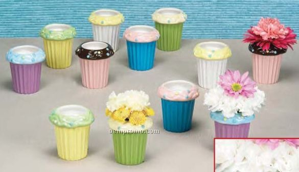 Assorted Ceramic Cupcake Containers (6 Pack)