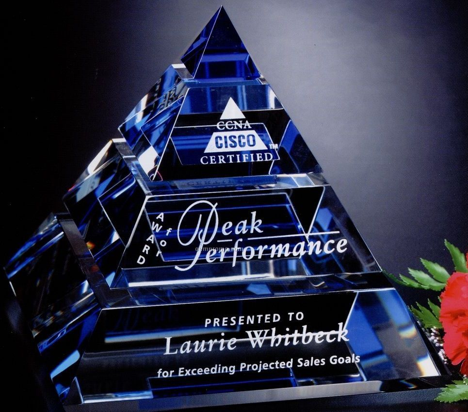 "Indigo Gallery Crystal Apogee Pyramid Award (5 1/2"")"