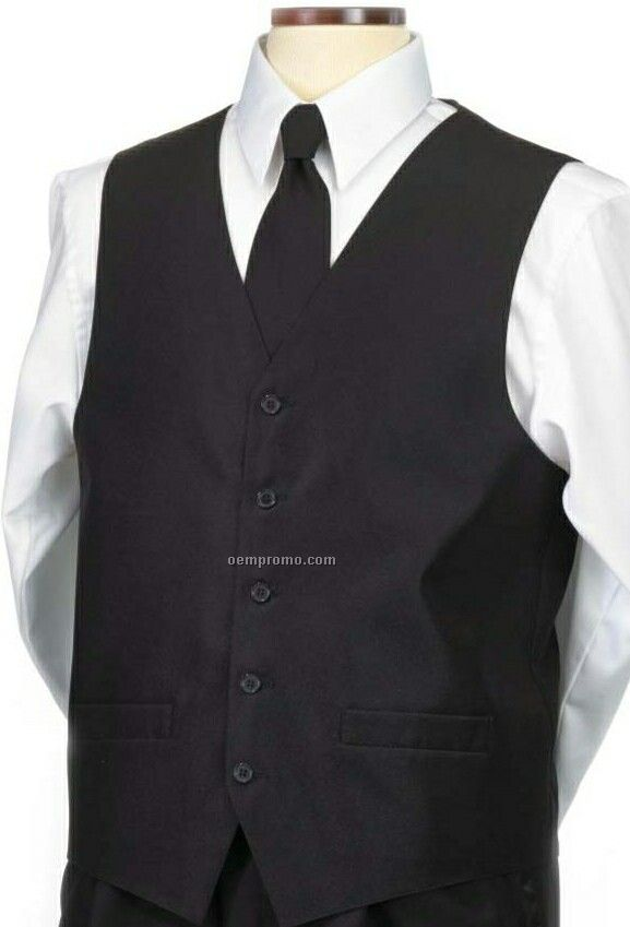 Wolfmark Men's Black Uniform Wear Vest (2xl)