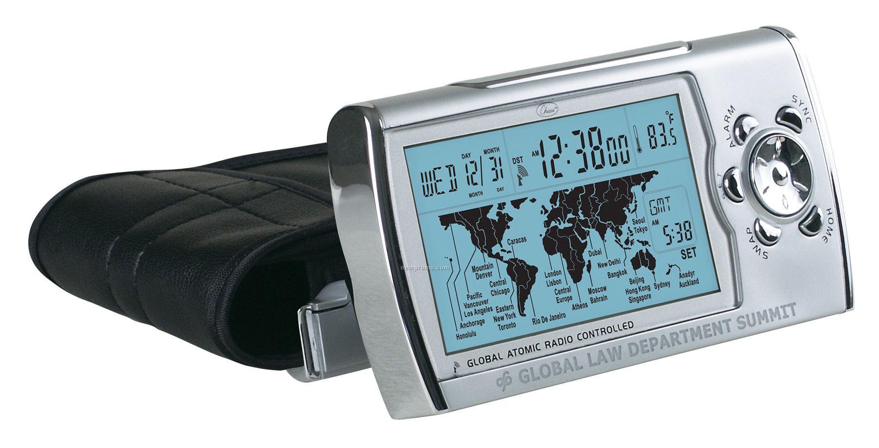 Travel Alarm Clock Dual Time Zones