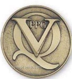 """2-1/2"""" Solid Brass Die Struck Medallion Paperweight"""