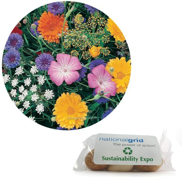 Butterfly Seed Mix In Poly Bag With Custom 4-color Label