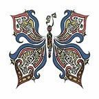 """Stock Temporary Tattoo - Butterfly 3 (1.5""""X1.5"""")"""