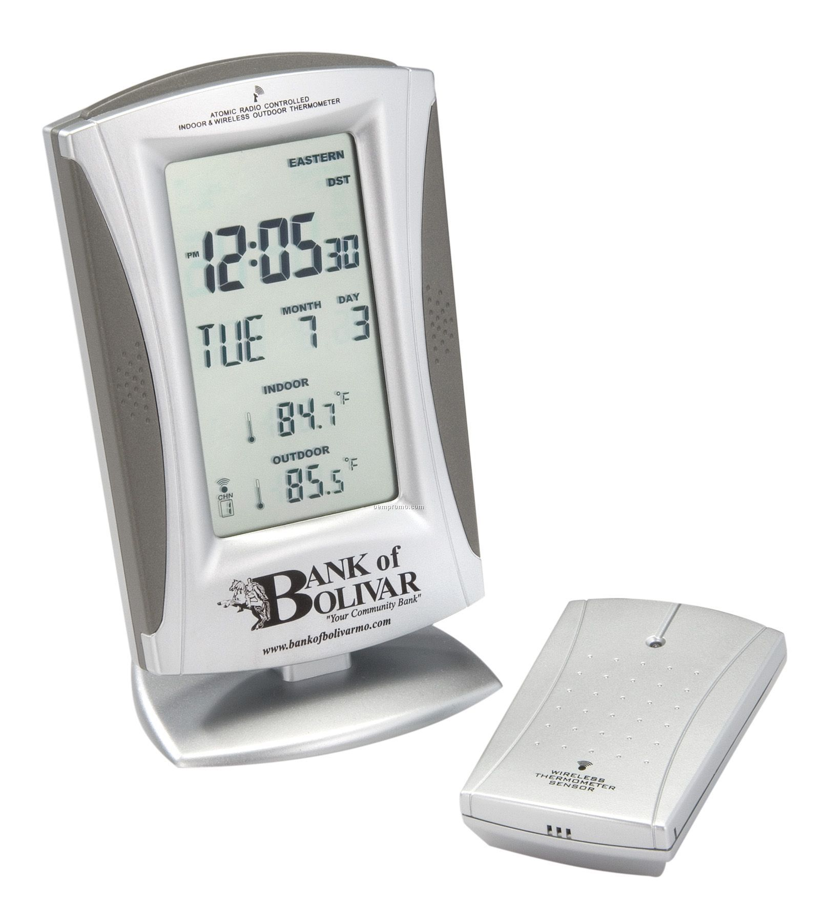 True Time & Temp Wireless Thermometer Radio-controlled Clock