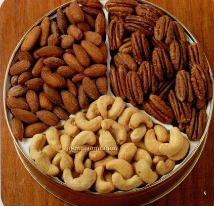 33 Oz. Cashews/ Almonds/ Pecans Designer Gift Tin
