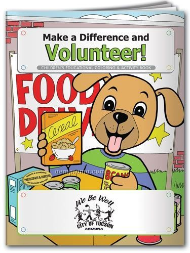 Action Pack Color Book W/Crayons & Sleeve - Make A Difference And Volunteer