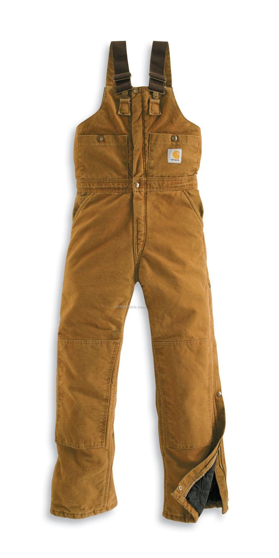 Carhartt Women's Sandstone Quilt Lined Bib Overalls (Sizes 2-18)