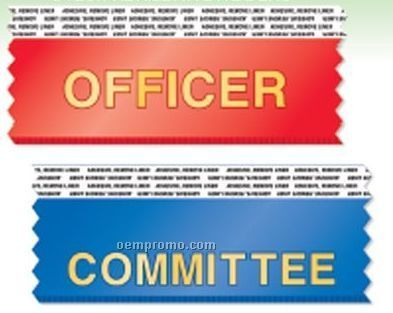 "Horizontal Stock Ribbon With Tape (Committee) (4""X1-5/8"")"
