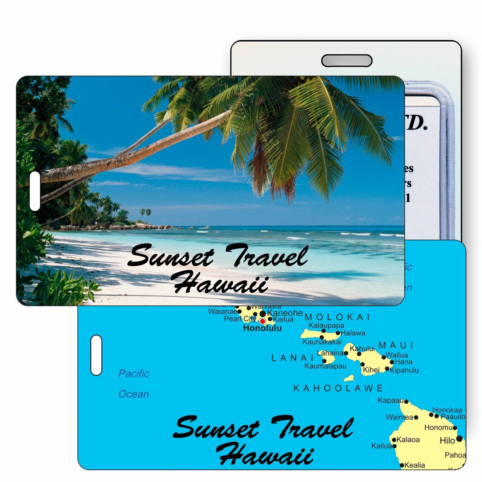 Hawaiian Luggage Tags Luggage Tag 3d Lenticular