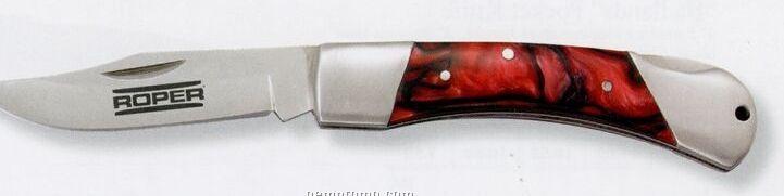 Red Velvet Pocket Knife
