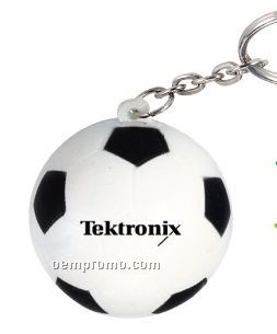Soccer Ball Squeeze Toy Key Chain