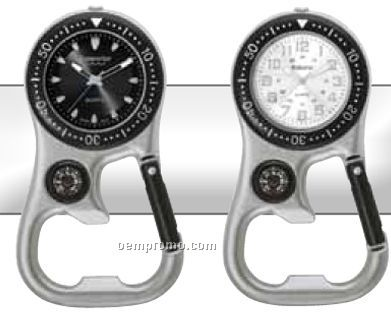 Watch Creations/ Unisex Carabiner Watch W/ Black/ Silver/ Blue Dial