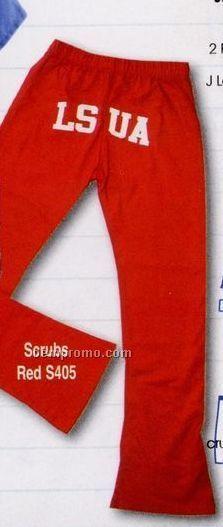 Adult Cotton Sheeting Scrub Pants (S-l)
