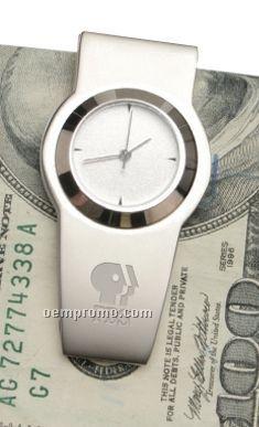 Nickel Clock Money Clip