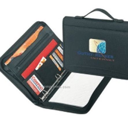 Poly Zippered Binder Padfolio