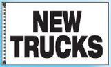 Stock Cluster 3 Flag Set W/ Staff & Hardware (New Trucks)