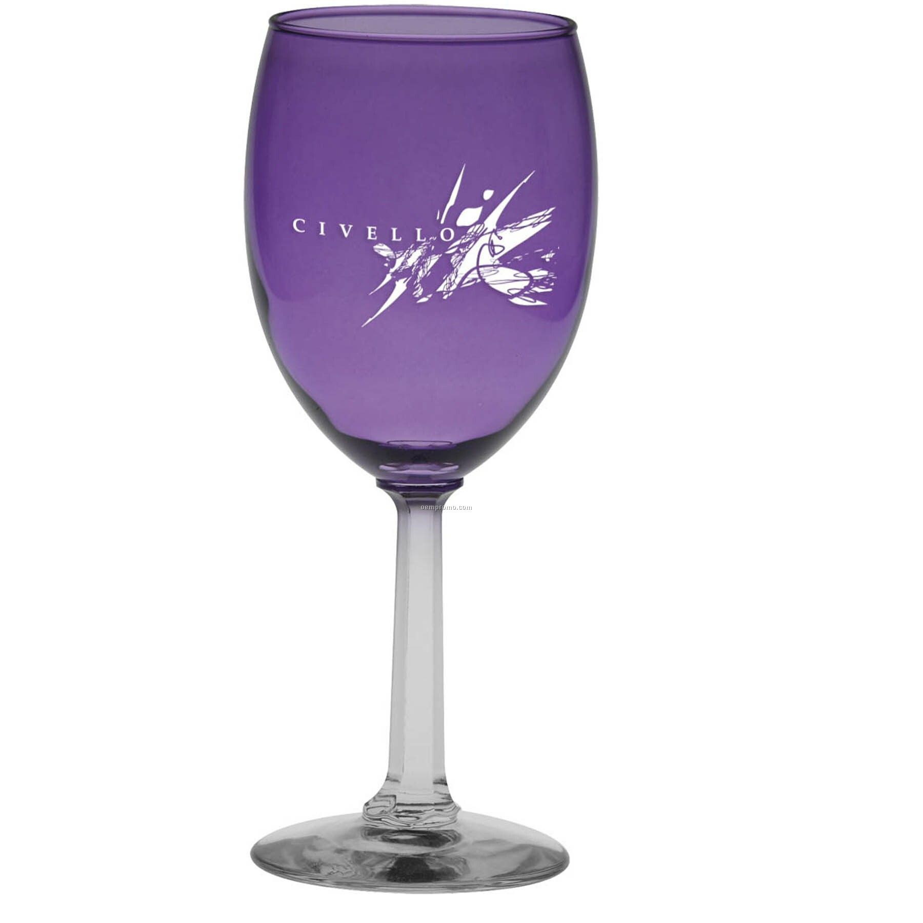 10 Oz. Purple Napa Valley Goblet With Optic Stem