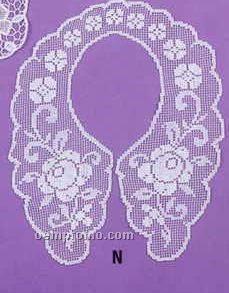"""6""""X14"""" Cotton Collars With Filet Lace"""