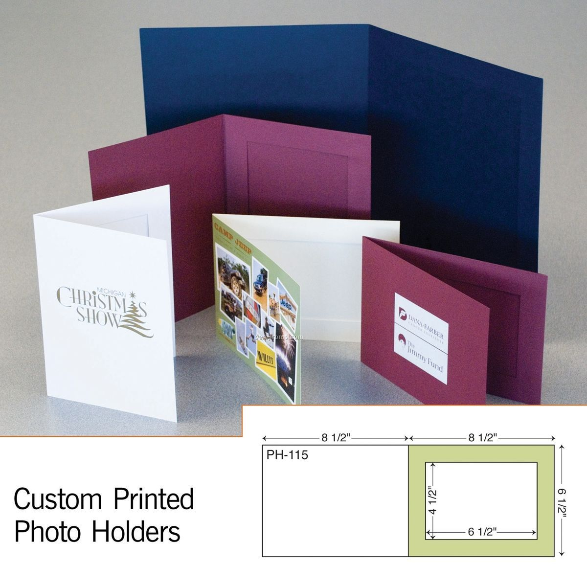 "Paperboard 5"" X 7"" Photo Holder (1 Color/1 Side)"