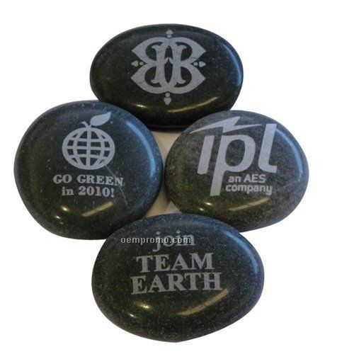 Small Etched Logo Stone