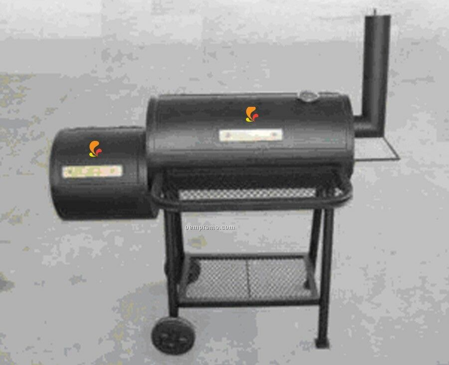 Barbecue Grill - Side Fire Box & Side Chimney