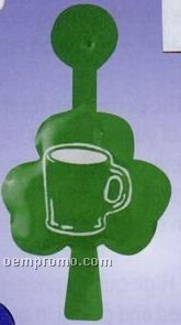 Clover Leaf Plastic Coated Metal Litho Tab