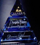 "Indigo Gallery Crystal Accolade Pyramid Award (8"")"