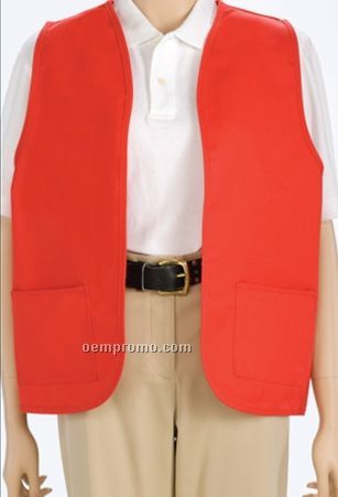 Solid Color Unisex Non Button Bolero Vest W/ 2 Patch Pockets (S-3xl)