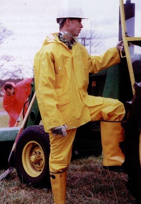 3 Piece Rainsuit With Detachable Hood & Bib Overall (3xl-6xl) Blank