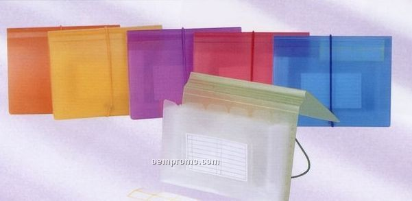 Assorted Pack Expanding File With 6 Pockets