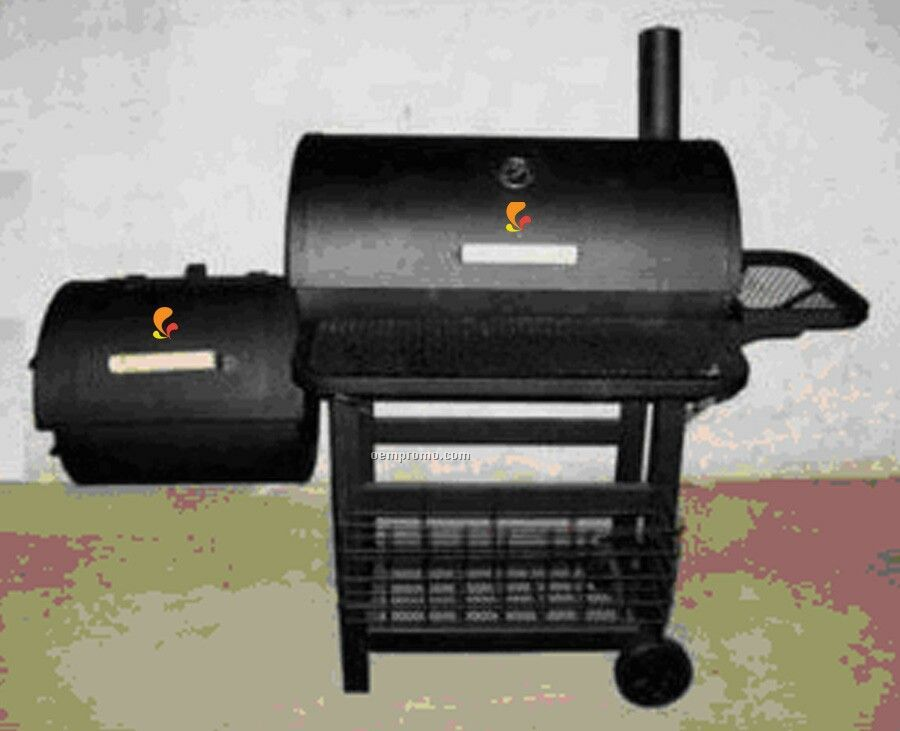 Barbecue Grill - Side Fire Box, Side Tray & Bottom Storage