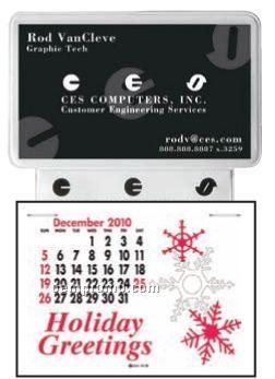 Business Card Without Ad Message Press-n-stick Calendar (Thru 8/1/2011)